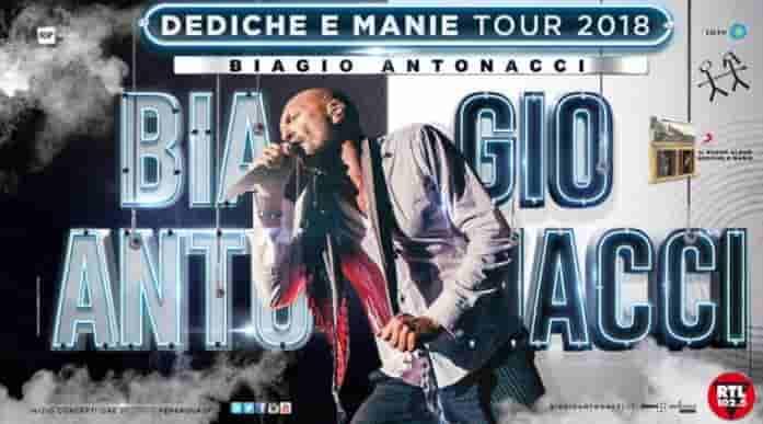 biagio antonacci date tour 2018