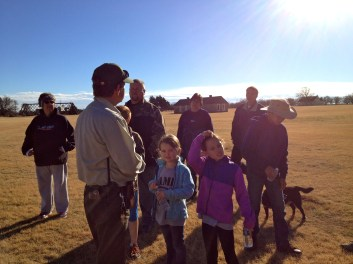 Our ranger addresses the group of walkers.