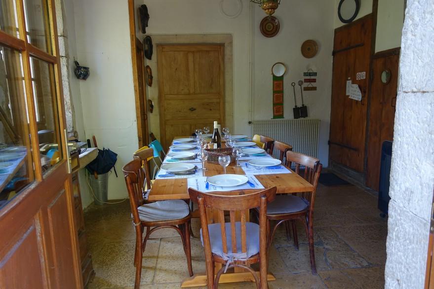 Chambres d'hôtes La Gémuloise salle de repas