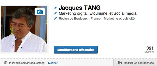 Jacques TANG Linkedin optimiser