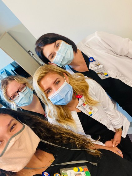 Interns Emily & Amanda with their MNT preceptor and RD Mentor.