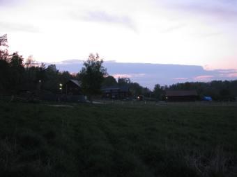Kvällshimmel över Lagnö Gård
