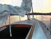 """Sunset Unfurled"". Oil on canvas. 2011."