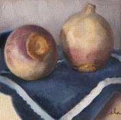 """Turnip Still Life"". Oil on panel. 2014."