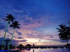 Lagoon Beach Resort dusk