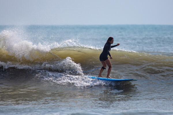 captain gina bradley surfing