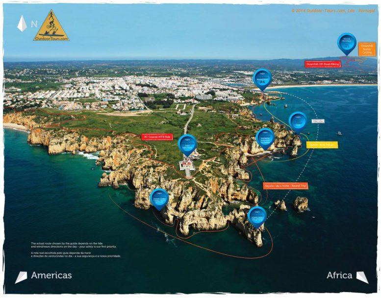map of Ponte da piedade