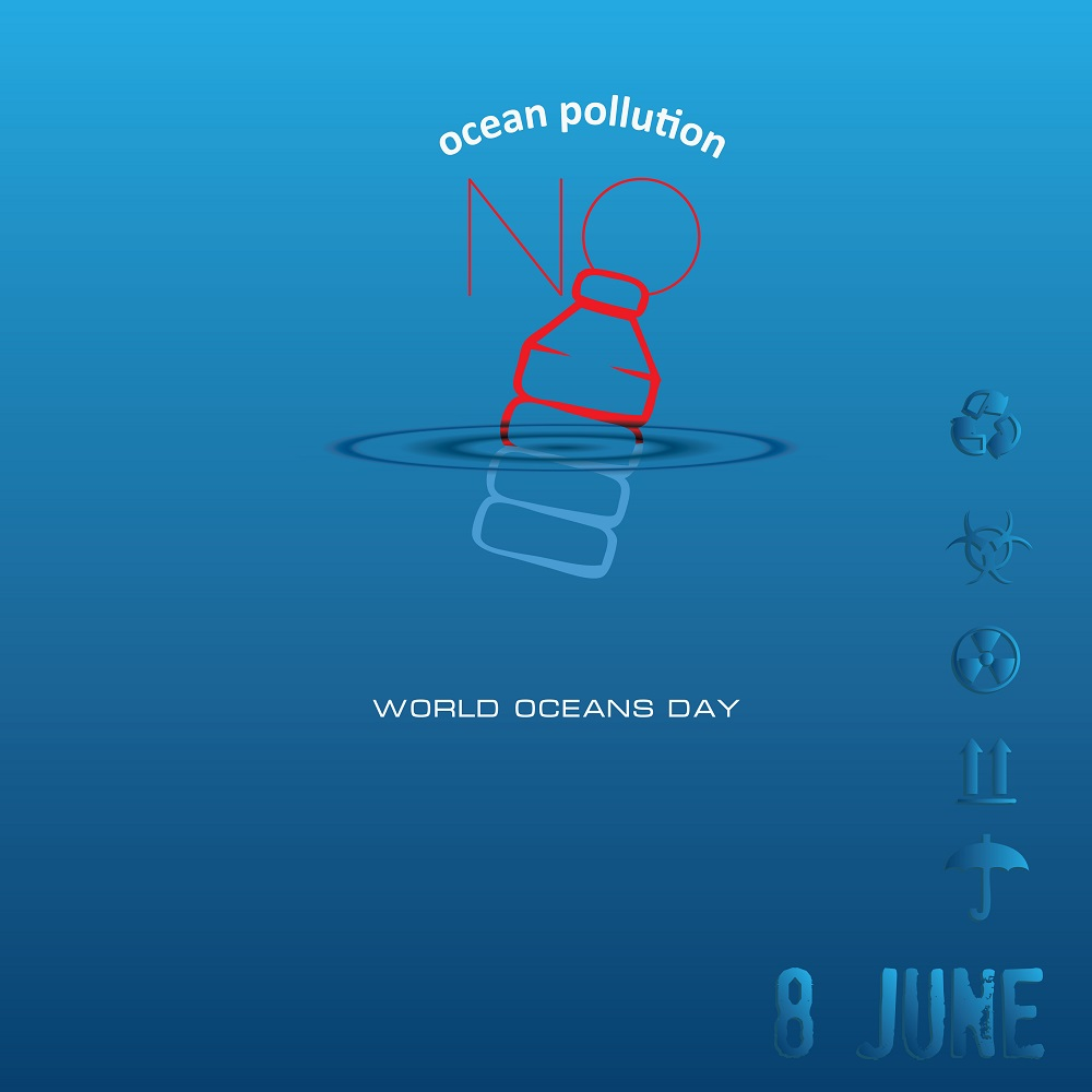 Banner for World Oceans Day, celebrated in June.