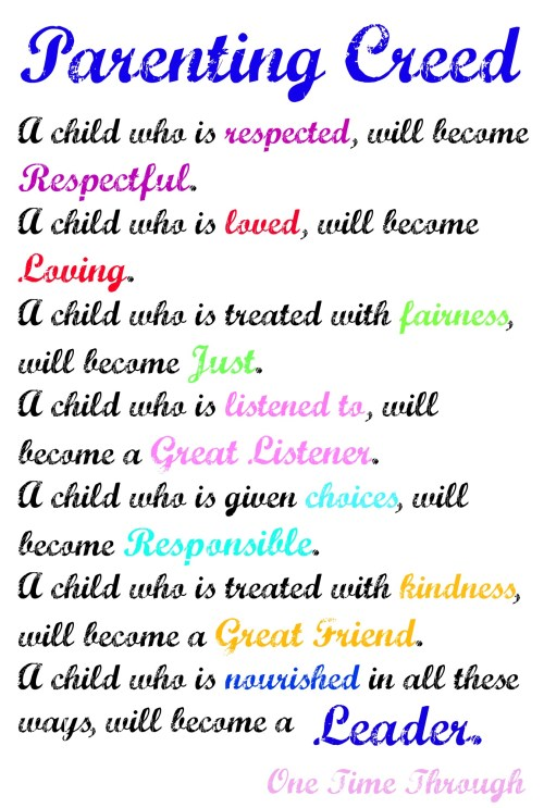 Parenting Creed Tips Leaders