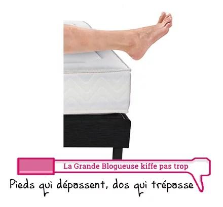 Le mal de dos, grand classique des grands. Et vous, combien mesure votre lit ?