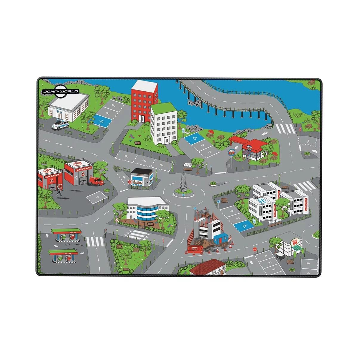 tapis de jeux ville 120 x 80 cm