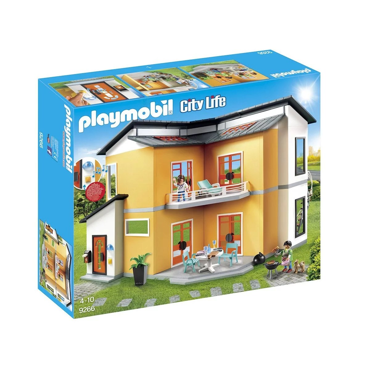 maison moderne playmobil city life 9266