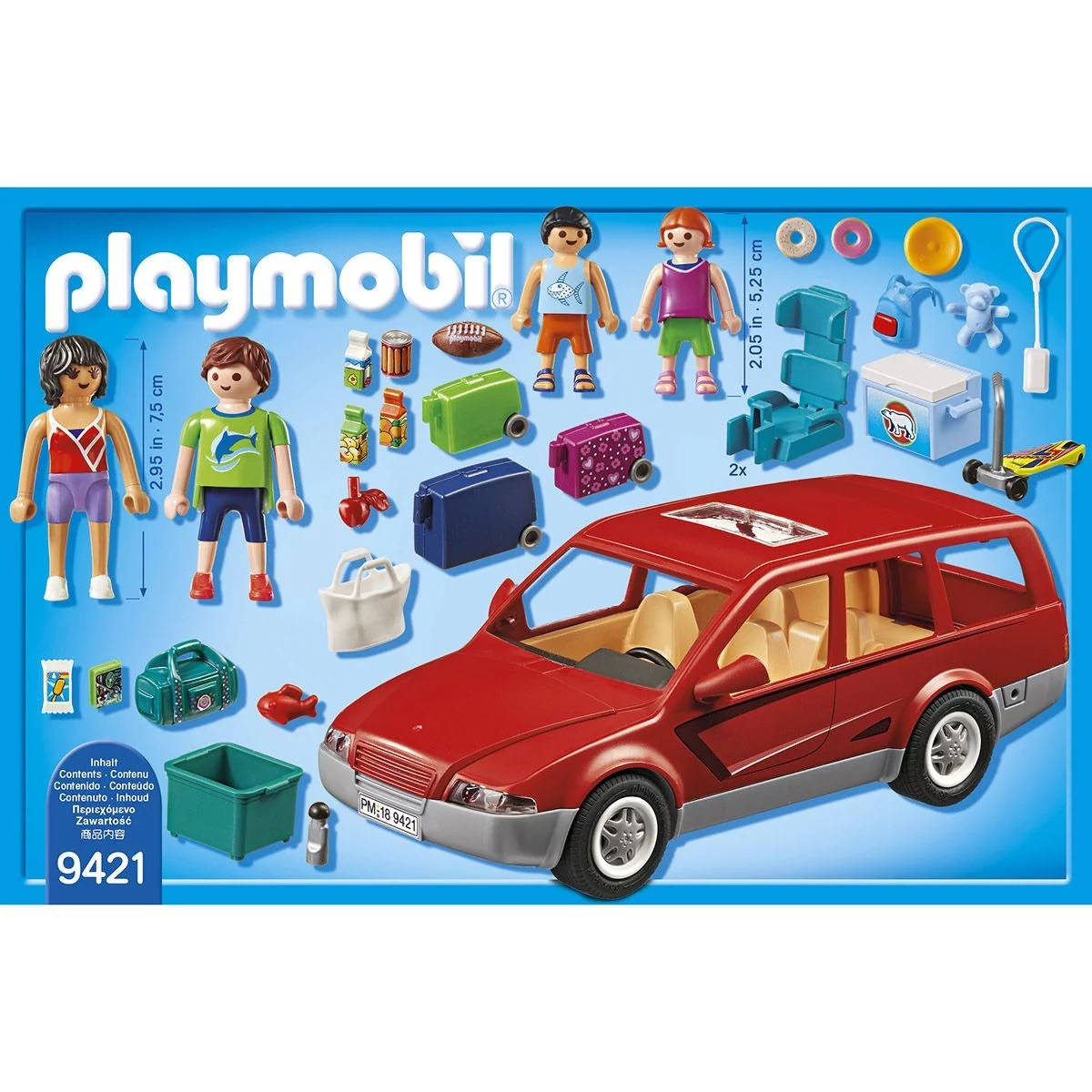 famille avec voiture playmobil family fun 9421