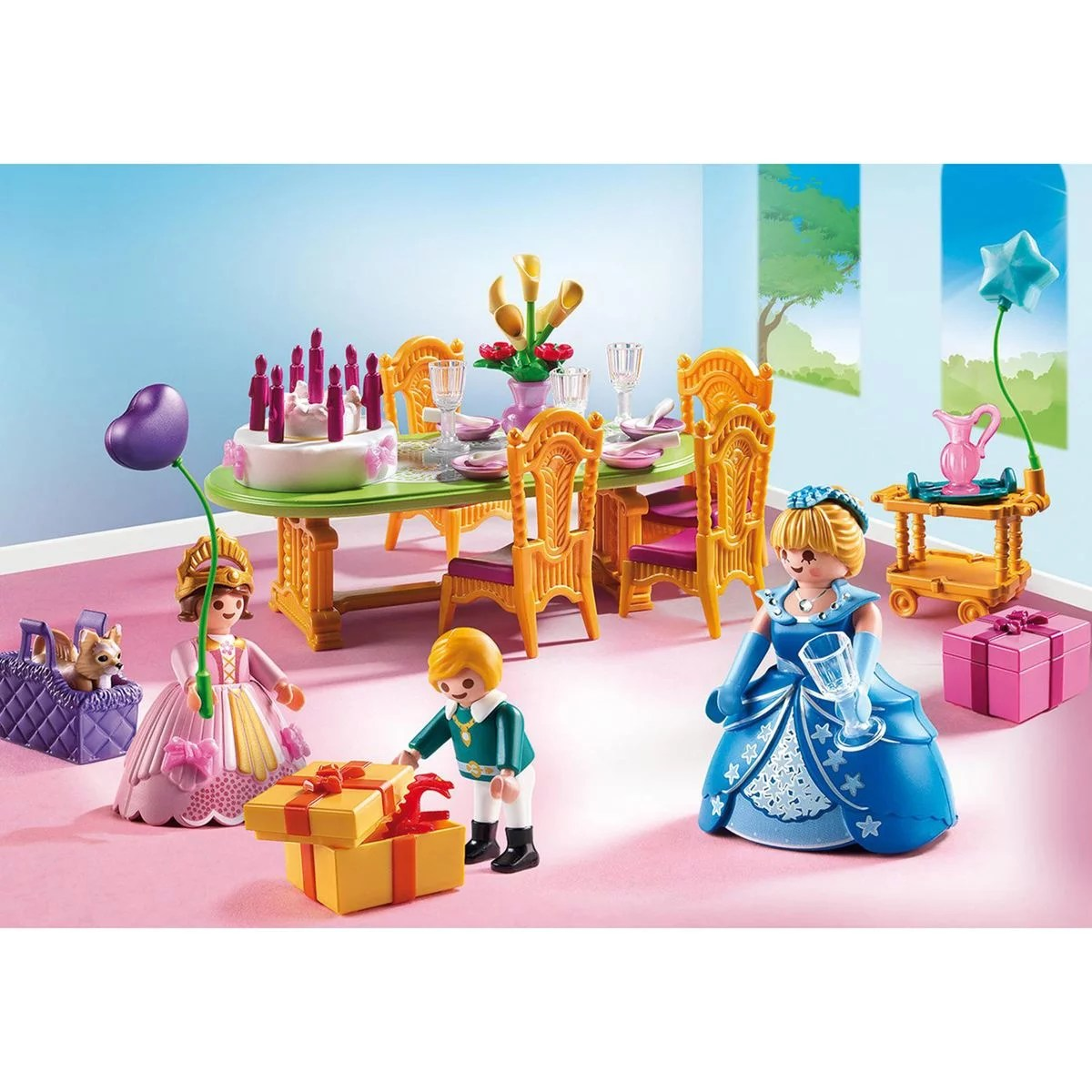 salle a manger pour anniversaire princier playmobil princess 6854