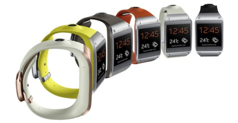 Galaxy Gear - 6 colors, but few connectivity options (Samsung)