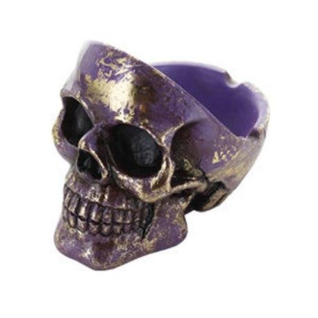 Cendrier Skull polyrésine (Violet)