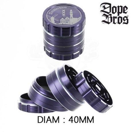 Grinder Alu Dope Bros Amsterdam Violet 40mm