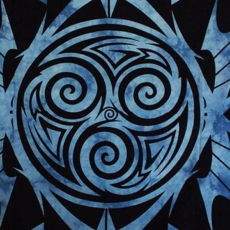 Tenture Celtique Triskell Bleu