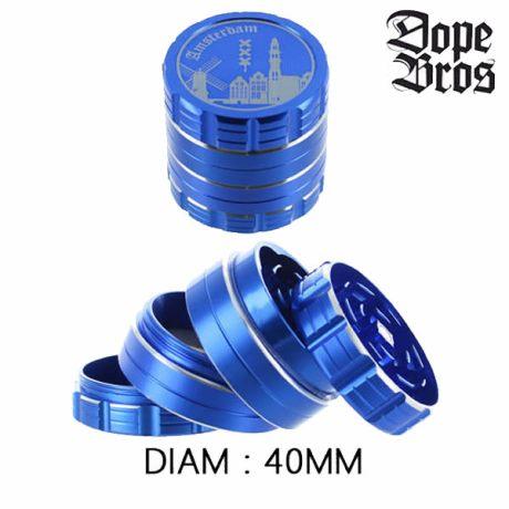 Grinder métal Dope Bros 40mm Bleu