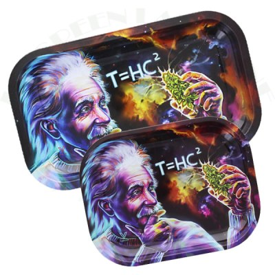 plateau métal Albert Einstein Black Hole