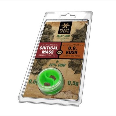 Jelly 22% Critical Mass vs OG Kush 0,5g+0,5g