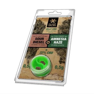 jelly 22% sour diesel vs amnesia 0.5g + 0.5g