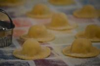 tortelli di patate e San Daniele al burro e papavero