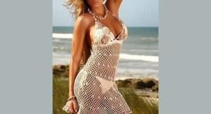 Crochet robe pour la plage façon filet