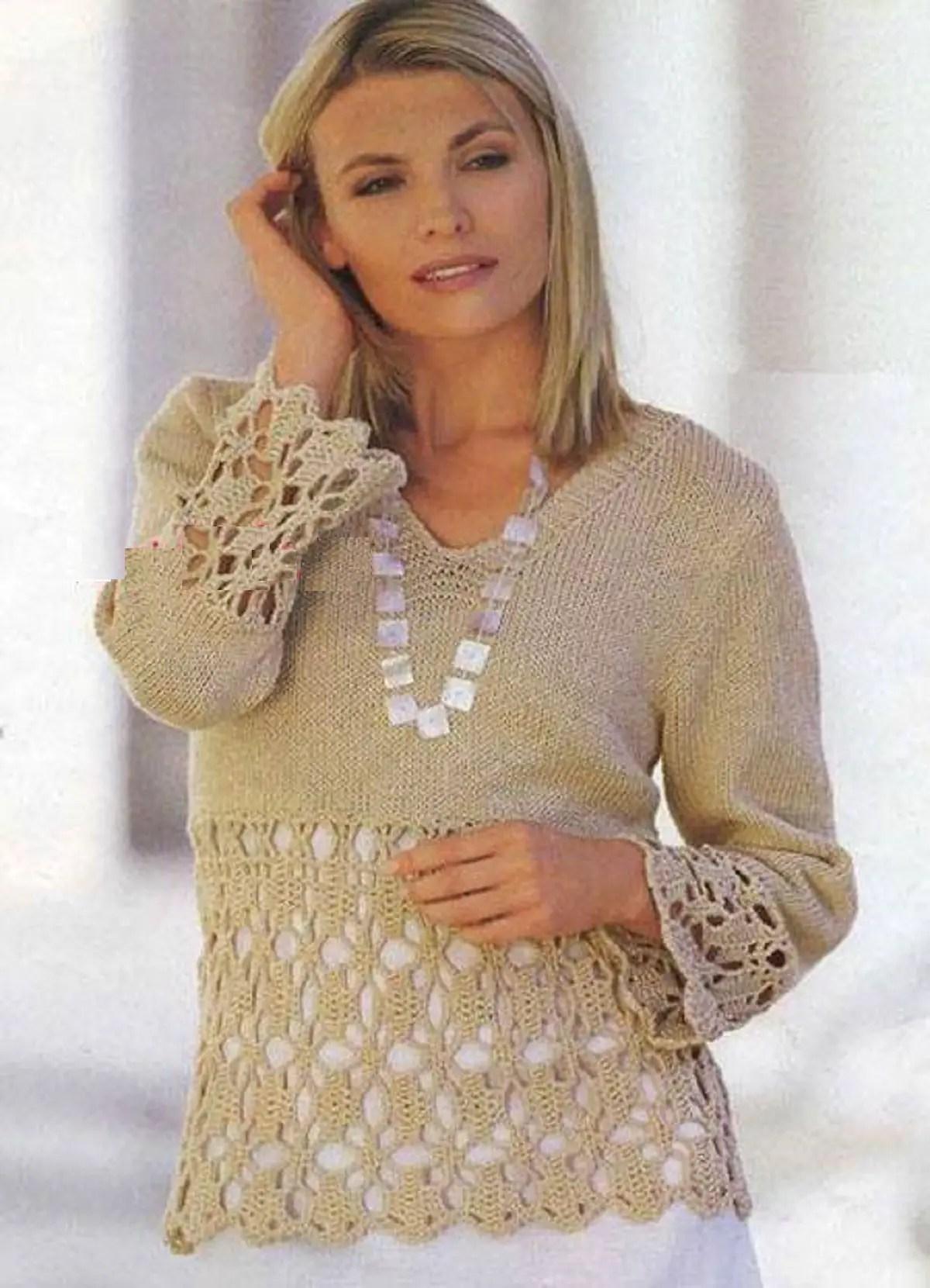 Une belle association tricot-crochet