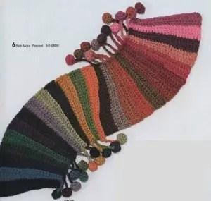 tricoter une echarpe rigolote