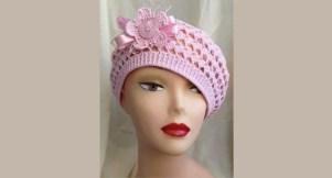 Bonnet au crochet façon vintage