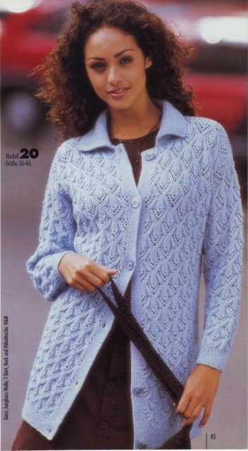 Au tricot une magnifique veste
