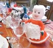 la table de Noël et ses nouveaux amis