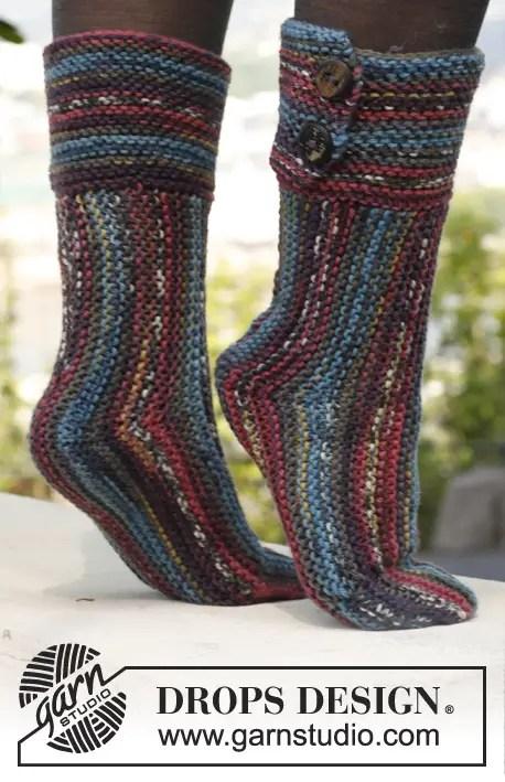 Des chaussettes à tricoter avec 2 aiguilles pour les débutantes et les autres - La Grenouille ...