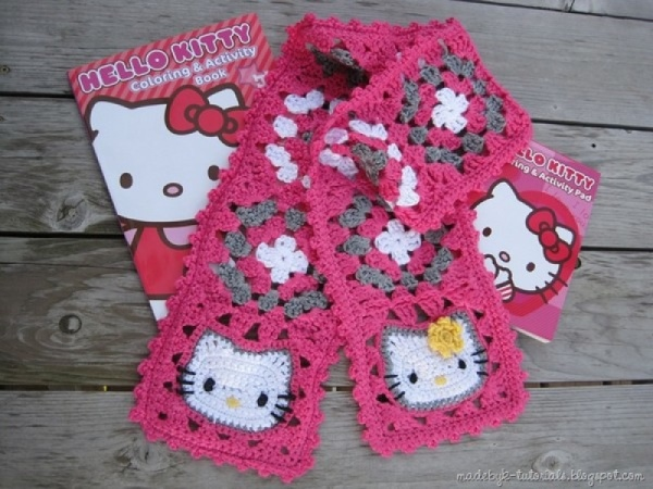Cute HELLO KITTY Baby Dress Free Crochet Pattern - سويتي | 450x600