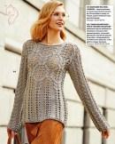 un pull au tricot délicatement torsadé