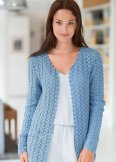un cardigan au point zig zag
