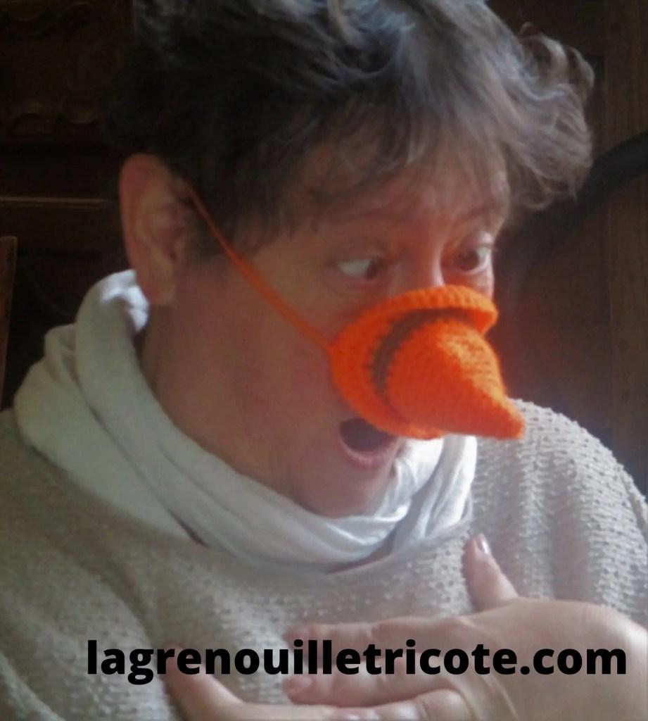 un peu d'humour avec le cache nez pour l'hiver