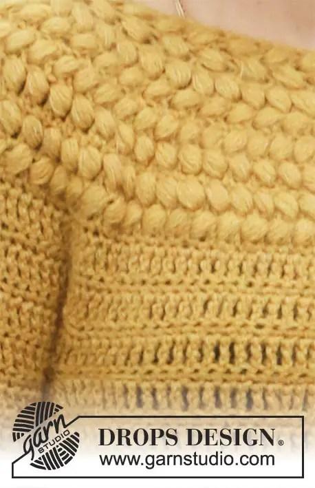 un pull d'hiver au crochet de chez Drops