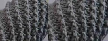 un beau point relief au crochet