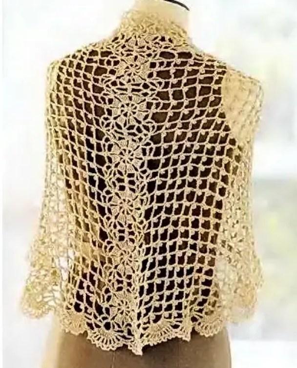un châle Dolce Vita au crochet