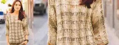 Un pull d'été tout léger au tricot
