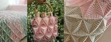 Des triangles au crochet texturé