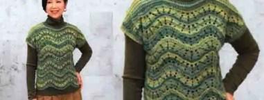Un pull sans manche femme au crochet
