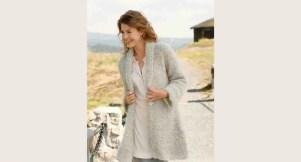 Modèle tricot un gilet long femme