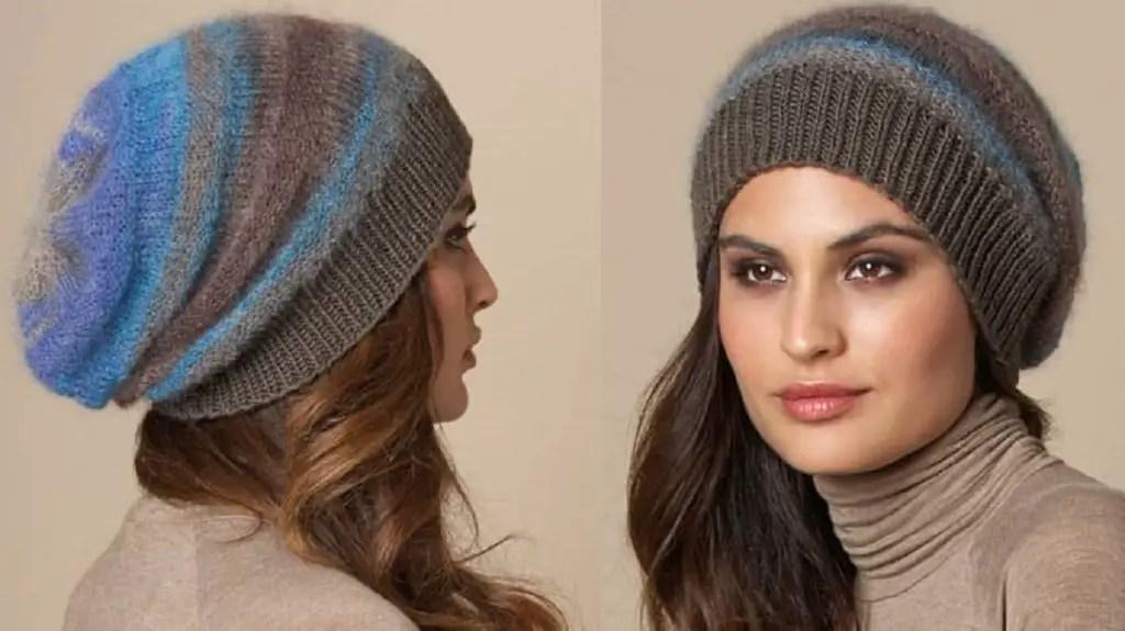 Un bonnet long femme hiver