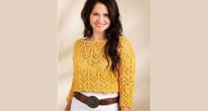 haut femme original au tricot