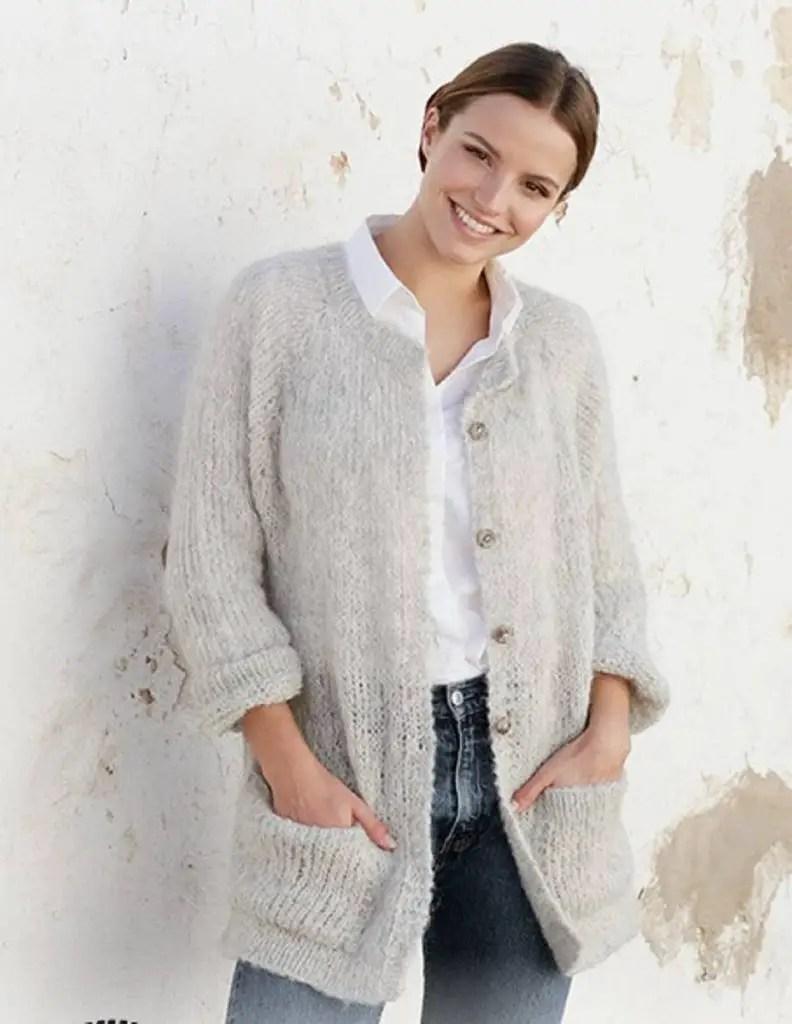 veste tricot femme été