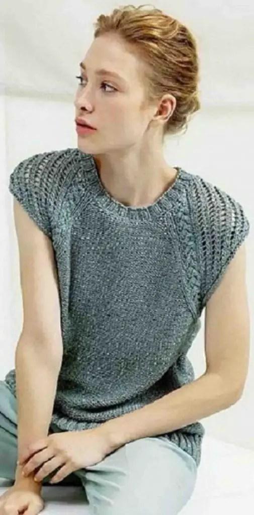 Pull d'été femme à tricoter