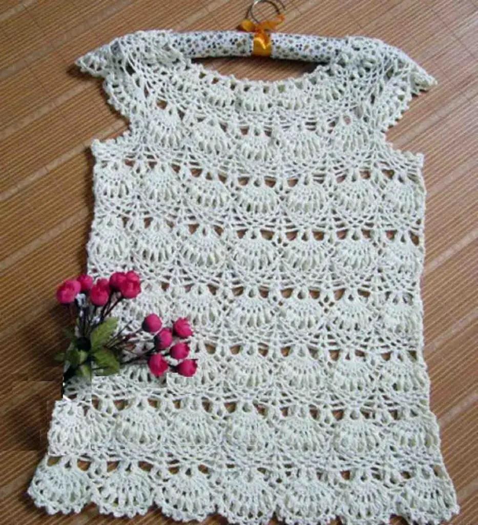 Blouse crochet chic